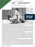 Begum Zia's Formula . .