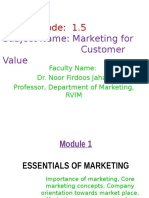 Marketing Module1