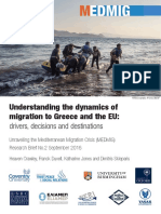 Research Brief 02 Understanding the Dynamics of Migration to Greece and the EU