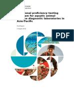 Regional Proficiency Testing Program Aquatic Animal Disease Diagnostic Laboratories Asia Pacific