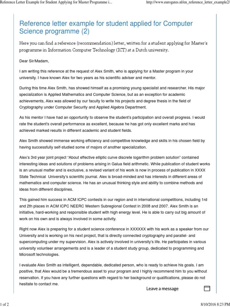Recommendation Letter Sample For University from imgv2-2-f.scribdassets.com