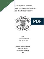 Tugas Makalah Pembangunan Karakter tentang 'Adil Dan Proporsional'