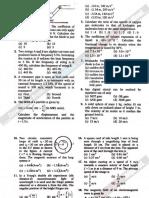 AMU Engineering Entrance Exam Physics Solved Paper 2010