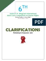 Clarifications 2016