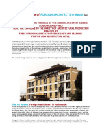 The Architecture of FOREIGN ARCHITECTS in Nepal Text