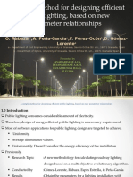A Simple Method for Designing Efficient Public Lighting Based on New Parameter Relationships