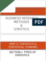 Business Research & Statitics Part II