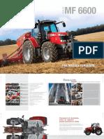 Tracteur Massey Fergusson 6600 en français