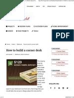 Cornner Desk Plans