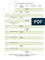 General IELTS 60 Day Study Plan