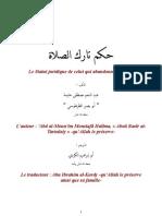 Shaykh Abd Al Moun'im Mustafa Halima Abu Basir At Tartusi - Le statut de celui qui abandonne la prière