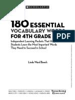 180 Words 4th Grade