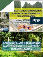 7 Charla Tec PTFR - Trabajos Diarios de Operacion y Mantenimiento en PTAP NAR