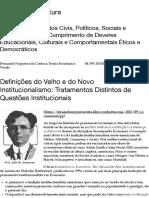 Definições do Velho e do Novo Institucionalismo