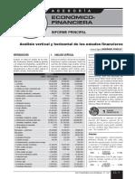 Análisis Vertical y Horizontal de Los Estados Financieros