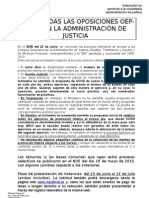 Hoja Informativa Convocatoria Oposiciones 22-6-2010