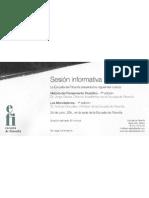 Invitación Sesión informativa