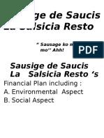 Salsicia Resto Financial Plan