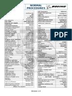 B767-300ER Procedimientos Normales