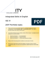 ISE IV 2017 Portfolio Tasks