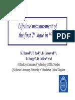 Lifetime Measurement Of