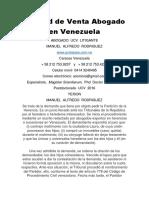 Nulidad de Venta Abogado en Venezuela