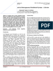Load Balancing Approach in Heterogeneous Distributed Systems - A Review