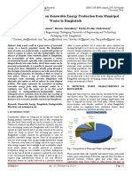 An Analytical Report on Renewable Energy Production from Municipal Wastes in Bangladesh