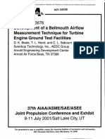 Development of a Bellmouth Airflow Measurement Technique for Turbine Engine Ground Test Facilities