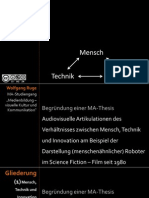 Technik - Innovation - Begründung einer MA-Thesis