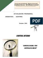 1 Unidad II - La Auditoría y El Control Interno - UNFV - 2016