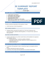 grant summary report template draft