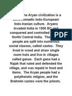 The Aryan Civilization is a Semi