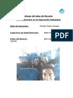 Informe - programa becarios Ferreyros administración
