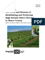 West_2012_The Costs and Returns of Establishing and Producing High-Density Sweet Cherries in Wasco County