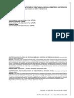 Gentrificação e Políticas de Revitalização Nos Centros Históricos No Brasil