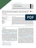 Sulfat and Organic Sulfid