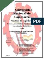 91437635 Informe Del Trabajo de Investigacion Cristalografia Mineralogia y Petrologia
