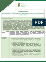 Fortalecimiento a la Gestión Forestal, Municipal y Comunitaria del Departamento de Santa Cruz