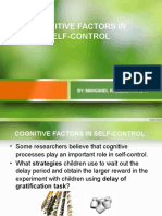 Cognitive Factors in Self Control