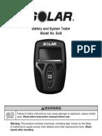 Solar BA9 Manual