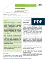 Parenteral Nutrition in Hospitalized Children