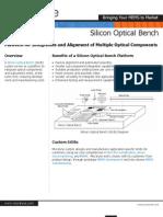 Silicon Optical Bench - Micralyne MEMS Foundry