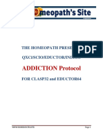 Addiction Protocols for Scio, Qxci, Indigo and Eductor