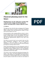 Financial Planning Must for the Future