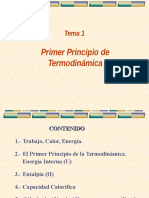 Tema 1-Primer Principio de la termodinámica