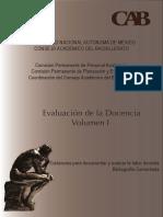 Evaluación de la Docencia Volumen I