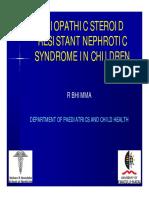 Steroid Resistant NephroticS yndrome