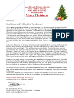 Christmas Thank You Letter 2016