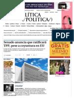14-11-16 Senado anuncia que ratificará TPP, pese a coyuntura en EU - Grupo Milenio